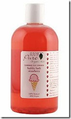 100% Pure Bubble Bath in Strawberry