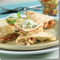 Chicken Quesadillas Recipe from MyRecipes_com and Photo By Oxmoor House