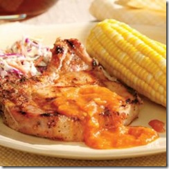 Pork Chops with Peach BBQ Sauce_Photo by Eating Well